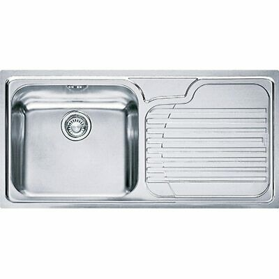 Stainless Steel Sink By Franke (Galassia GAX611 Right-Hand Drainer) • 80£