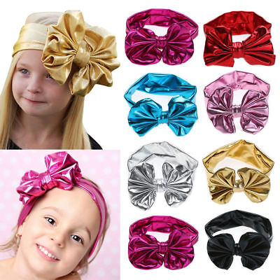 Soft Children Hairband With Bowknot 7Colors New Fashion Shower Hair Accessorie • 2.12£