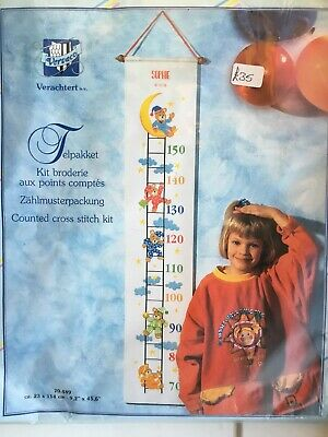 £35 • Buy Counted Cross Stitch Kit, Childrens Height Chart