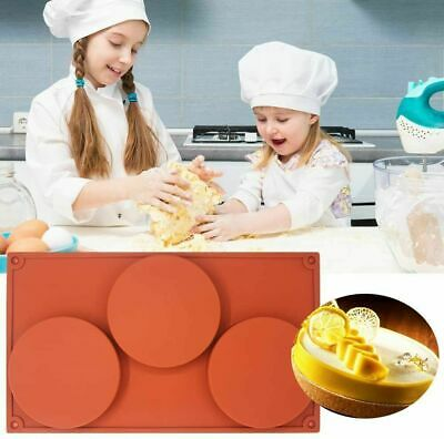 AU17.99 • Buy 3pcs Silicone Donut Mold Muffin Chocolate Cake Cookie Doughnut Baking Mould Tray
