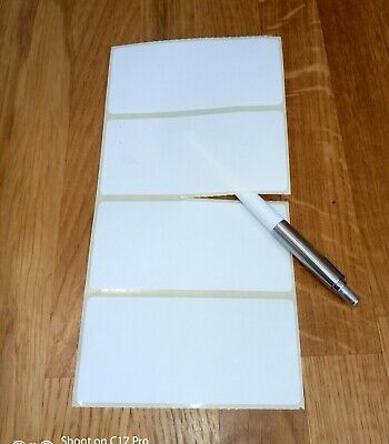 80 X Plain WHITE Sticky Self Adhesive Postage Parcel Labels 100 X 50mm. Thermal • 1.99£