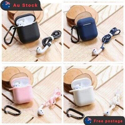 AU3.99 • Buy Soft Silicon Case Cover For Airpods Case Cover Skin Anti Lost Strap Shockproof