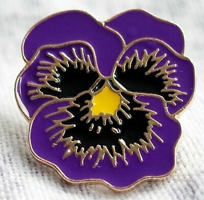 Animal Purple POPPY Flower PIN Badge GREAT For REMEMBRANCE Day ANIMALS IN WAR • 3.50£