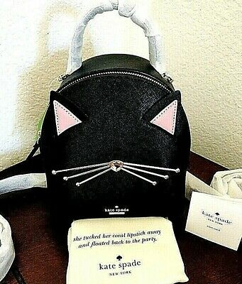 $ CDN402 • Buy Kate Spade Cat Meow Mini Leather Backpack Bag &Coin Purse Set Cats Lovers Gift