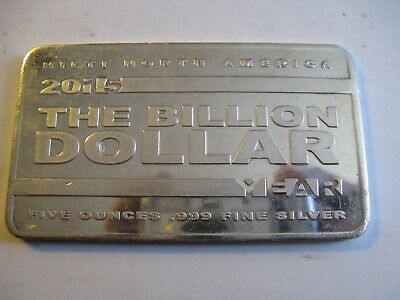 $ CDN250 • Buy 2015 Hilti The Billon Dollar Year 5 Oz .999 Silver Bar