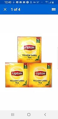 £12.99 • Buy Lipton Yellow Label Tea Bags ( 3 Boxes Of 100  Total 300 Teabags Supplied )