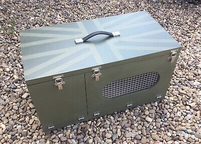Weekend Box Ferret Carry Box Small Animal Hutch Rabbiting Hunting Holidays Shows • 70£