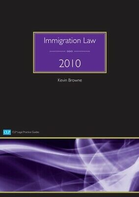 Immigration Law 2010 By Kevin Browne (Paperback / Softback) Fast And FREE P & P • 3.31£