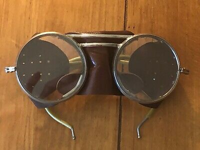 $89 • Buy Vintage Steampunk Glasses Goggles Antique Driving Motorcycle Aviator Safety
