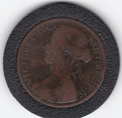 $3.76 • Buy Rare   1871    Queen  Victoria  Large  Penny  Bronze  Coin