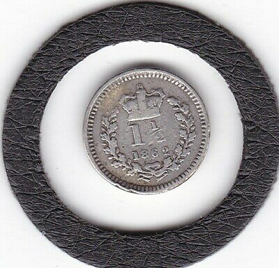 $9.38 • Buy 1862   Queen  Victoria  Threehalfpence  (1.5d)  Silver (92.5%) Coin