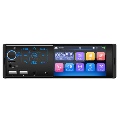 $53.90 • Buy 4.1In Full Touch Car Bluetooth Stereo FM Radio MP5 Player 2USB AUX Mirror Link