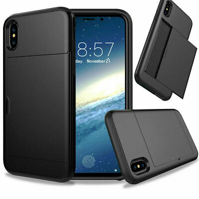 AU8.50 • Buy For IPhone X  Shockproof Phone Case With Credit Card Holder Cover