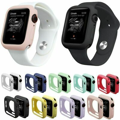 AU8.50 • Buy Silicone Case Cover For Apple Watch IWatch 38/42/40/44 Mm Shell Bumper Protector