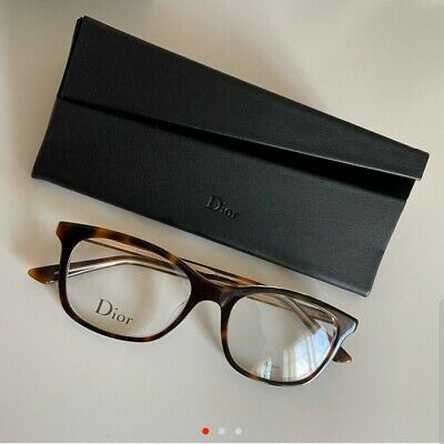 CHRISTIAN DIOR Glasses Frames With Clear Lenses, Brown Tortoiseshell • 200£