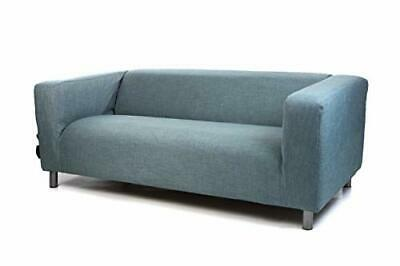 Replacement Easy Clean Cover Slipcover Fit IKEA KLIPPAN 2 Seater Sofa Duckegg • 48.97£
