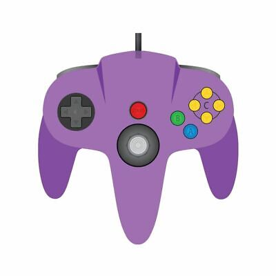 $ CDN22.06 • Buy TeknoGame Wired N64 Controller Clear Purple