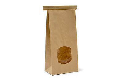 £6.95 • Buy I AM ECO COMPOSTABLE 500g Kraft Tin Tie Bags Lined With Window Food Suitable