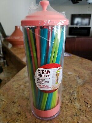 $10 • Buy Straw Dispenser With 100 Count Flexible Straws