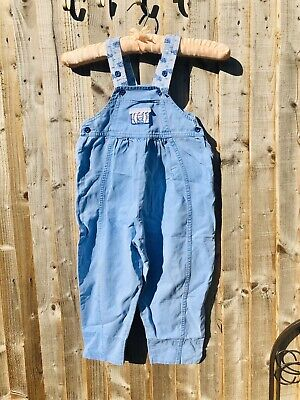 Vintage 90s Kids Girls Denim Dungarees 3-4 Years Floral Children's Clothes • 13.99£