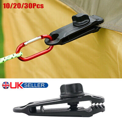 30X Windproof Tent Awning Canopy Fixing Clamp Clips Pole Corner Buckle Camping J • 6.79£