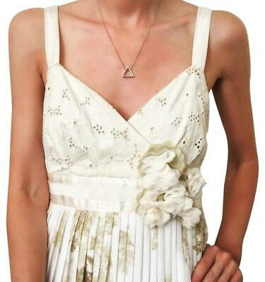 $ CDN38.62 • Buy Anthropologie Deletta Eyelet Dress Size Small Tea & Sweets Pleated Floral Sm EUC