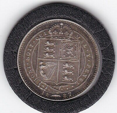 $6 • Buy Sharp  1887   Queen  Victoria  Sterling  Silver  Shilling  British Coin