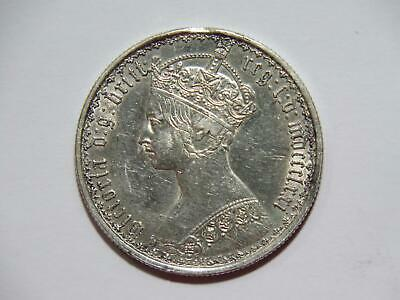 $33 • Buy Great Britain 1871 Gothic Florin Queen Victoria Damaged Silver World Coin 🌈⭐🌈