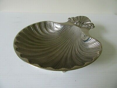 Vintage Silver Plated Type Clam Scallop Bon Bon Butter Trinket Dish • 14.99£