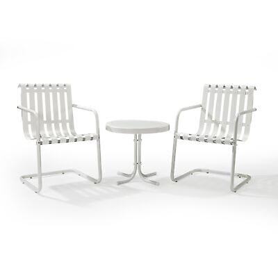 $255.14 • Buy Gracie Alabaster White Metal 3-piece Outdoor Conversation White 3-Piece Sets