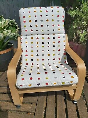 Ikea Poang Kids Chair Cover, Slipcover,children's Cushion,washable,padded • 16£