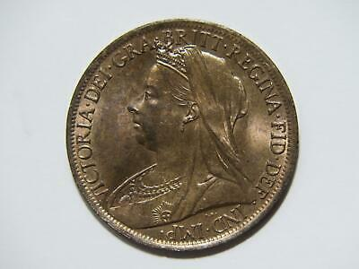 $5 • Buy Great Britain 1901 One Penny Queen Victoria World Coin 🌈⭐🌈