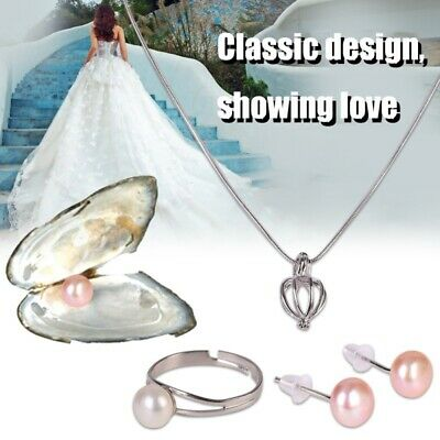$14.99 • Buy US Women Box Pearl Box Jewelry Box Jewelry Valentine's Gift Necklace Earring Set
