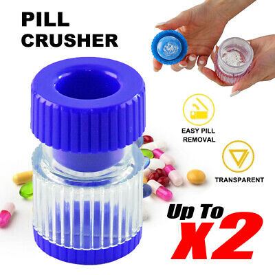 AU12.99 • Buy Portable Pill Pulverizer Tablet Grinder Medicine Cutter Crusher Storage Compartm