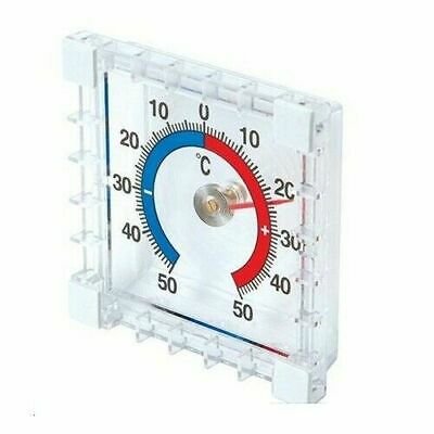 Indoor/Outdoor Stick-On Window Thermometer - Garden / Shed / Greenhouse • 2.85£