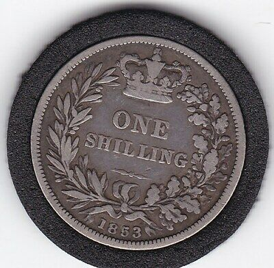 $2.25 • Buy 1853   Queen  Victoria  Sterling  Silver  Shilling  British Coin