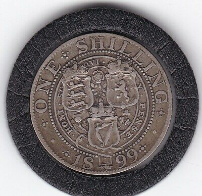$6 • Buy Queen   Victoria  1899   Sterling   Silver  Shilling  British Coin