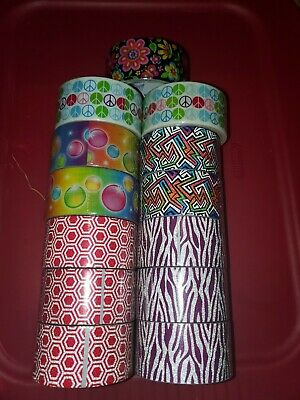 $10.99 • Buy ArtSkills Tape Trendz Duct Tape Purple Zebra Print & Glitter Designer Lot Of 5