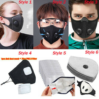 $ CDN27.46 • Buy Reusable Face Cover With Breathing Valve Replaceable Activated Carbon Filter Pad