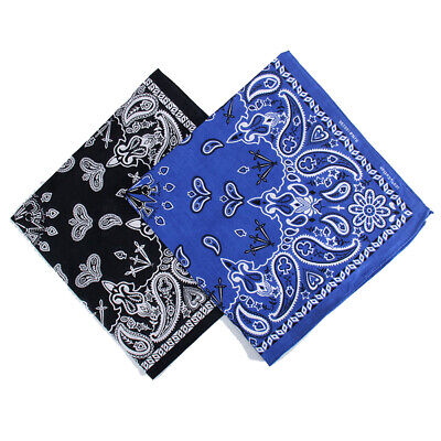 AU27.68 • Buy 100%-Cotton Plain Paisley Design Camo Army Bandanna Cow Boy/Girl Bandana 2020