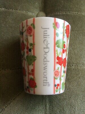 Julie Dodsworth Sweet Pea Small Plant Pot With Red Rose Stripe Pattern • 3£