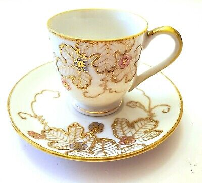 $39.99 • Buy Antique Occupied Japan Shofu Hand Painted Footed Demitasse Cup & Saucer Set