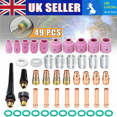 £18.29 • Buy TIG Welding Torch Stubby Gas Lens #10 Pyrex Glass Cup Kit For WP-17/18/26  P