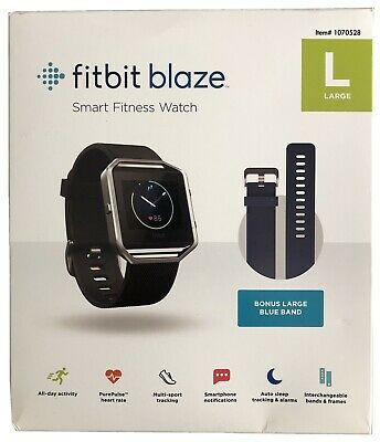 $ CDN89.73 • Buy Fitbit Blaze Smart Fitness Watch, Heart Rate Monitor, Large, Extra Blue Band, NR