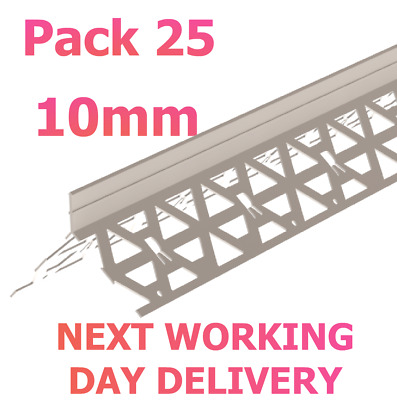 £56.99 • Buy 10mm PVC White Angle Render Bead 2.5m Rendering ~ Pack 25 NEXT WORKING DAY