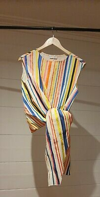 AU40 • Buy Womens Scanlan Theodore Candy Stripe Tie Front Top Size S