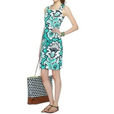 £35.98 • Buy Banana Republic Milly Collection Womens Dress Size 16 Teal Eden Rock Sheath