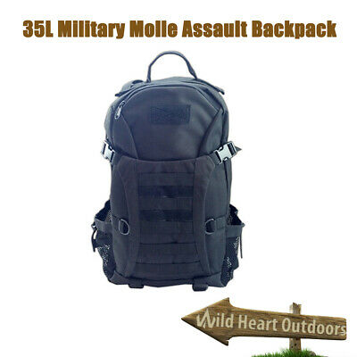 AU19.95 • Buy 35L SWAT Molle Army Tactical Military Style Assault Bag Backpack Black BNE Stock