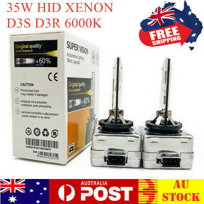 AU49.99 • Buy D3S D3R 6000k 35W HID Xenon Headlight Bulb Globes Replace For Philips For Osram
