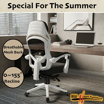 AU164.94 • Buy Office Chair Gaming Computer Chairs Reclinable Mesh Back Foam Seat